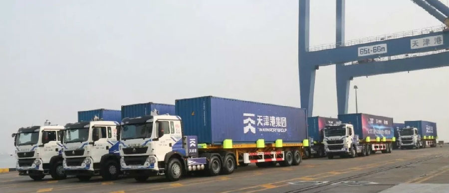 Debut in the World SINOTRUK's Intelligent Pure Electric Container Truck Carried out the World's First Whole-vessel Operation Successfully